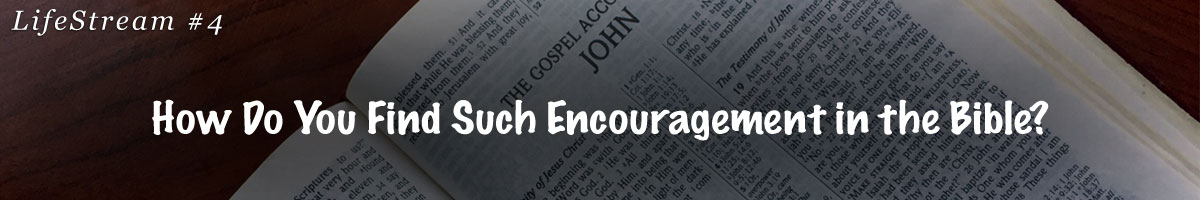 Lifestream 4 - How Do You Find Such Encouragement in the Bible?